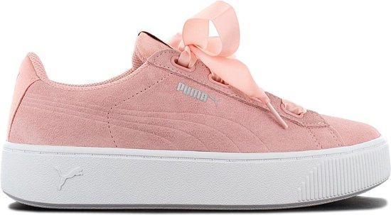 Puma Sneakers Vikky Ribbon Platform Suède Dames Roze Maat 40
