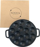 Koock Poffertjespan - gietijzer - inductie - gas -