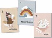 Mijn alfabetkaarten - 26 letterkaarten - speel- en leerkaarten - leren lezen - set Juul