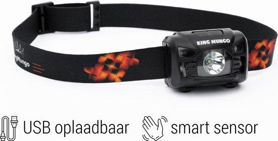 King Mungo KMHL009 Hoofdlamp LED - Oplaadbaar - Zwart