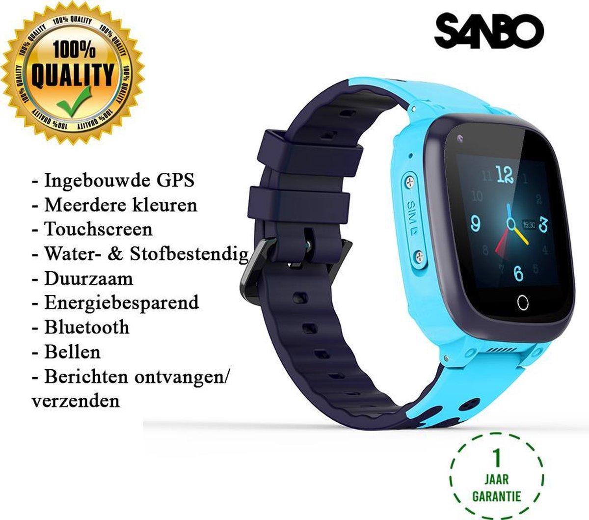 Sanbo T8 - Smartwatch 4G - smartwatch kinderen - smartwatch gps - Smartwatches - Bel & Camera functie - smartwatch jongens - smartwatch tracker - horloge gps kind - smartwatch blauw kopen