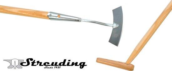 Streuding - Schoffel - Rond - model - 14 cm - met steel 160 cm - Art.Nr. 22041