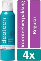 Deoleen Deodorant Spray 150 ml Regular 4 stuks Voordeelverpakking