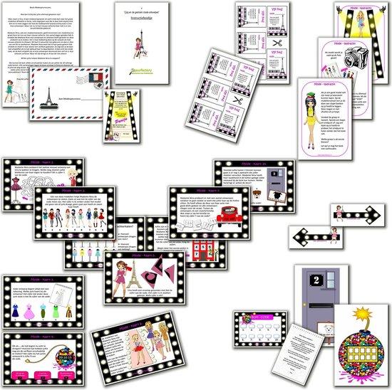 Thumbnail van een extra afbeelding van het spel Speurtocht voor kinderen- Cira en de gestolen modeontwerpen  - 6 t/m 8 jaar - kinderfeestje - speurtocht  - compleet draaiboek - PRINT ZELF UIT!