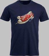 T-shirt M Lage sneakers in rood 2 - Darknavy - M - M Sportshirt