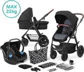 Kinderkraft Kinderwagen XMOOV 3 in 1 Black (incl. autostoel)