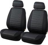 Stoelhoes Auto - Universele Autostoelhoezen -  Bestuurder/Bijrijder Stoelhoes (Geen Achterbank) -  Stijlvol - Zwart/Grijs