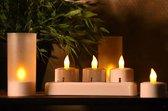 Led Oplaadbare Waxinelichtjes - 6 Led Kaarsen - Met Afstandsbediening - Verschillende Vlameffecten - 9-14 uur Lichttijd - Warme Kleur - Realistische Kaarsen - Inclusief Doorschijnende Behuizing - Veilig & Duurzaam