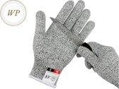 Werk handschoenen-Stretch-Snijbestendige handschoenen-Anti snijhandschoenen-Grijs-Keuken-Koken-Buitenshuis-Elastisch-Maat L