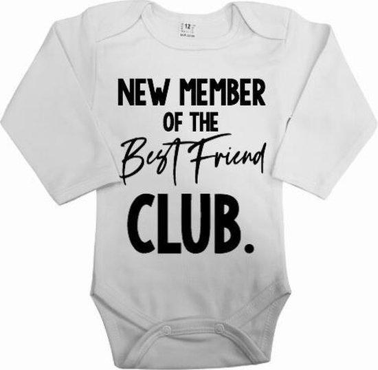 Zwangerschaps aankondiging rompertje new member best friend club | Jullie baby geluk bekendmaken aan jullie beste vrienden met deze geweldige romper | Cadeau voor je beste vriend vriendin.