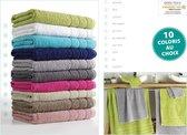 6x handdoeken wit 50 x 90 cm - Badkamer textiel badhanddoeken