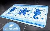 Ultrazachte Antislip Badmat - Microvezel Tapijt Kleed Voor Op de Badkamer & WC - Badtapijt Toilet Mat - Luxe Marine Design - 50 x 80 cm - MARINE MOTIFS