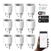 Silvergear Smart Plug WiFi - Slimme Stekker - 9 Stuks - Koppel met Google Home, Amazon Alexa en App