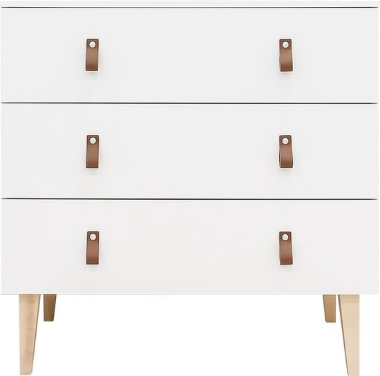 Product: Bopita Indy commode met 3 laden - Wit/Naturel, van het merk Bopita