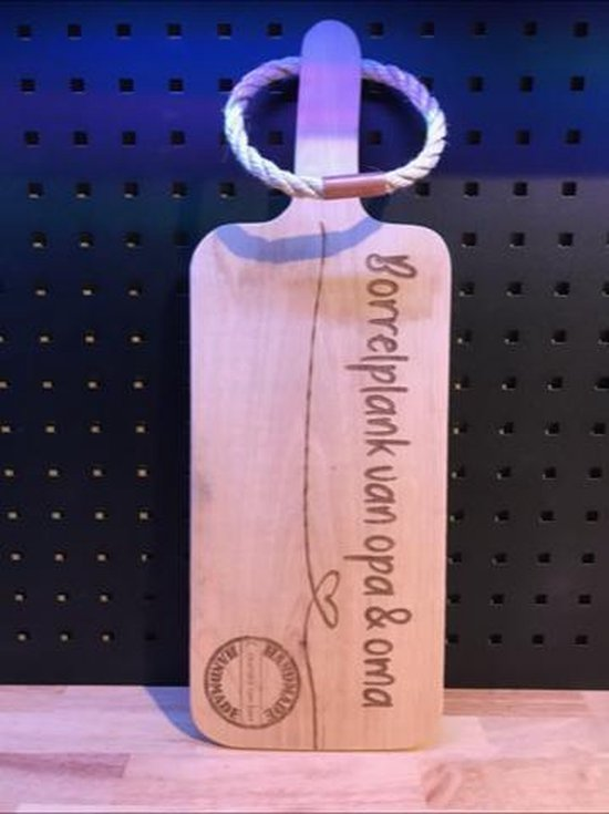 Broodplank borrelplank van opa en oma / serveerplank / vaderdag / moederdag / verjaardag / cadeau