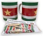 Surinaamse mokken (2 stuks) en cocktailprikkers (50 stuks)   Welkomstpakket   Feestpakket   Sun Vibes Collection