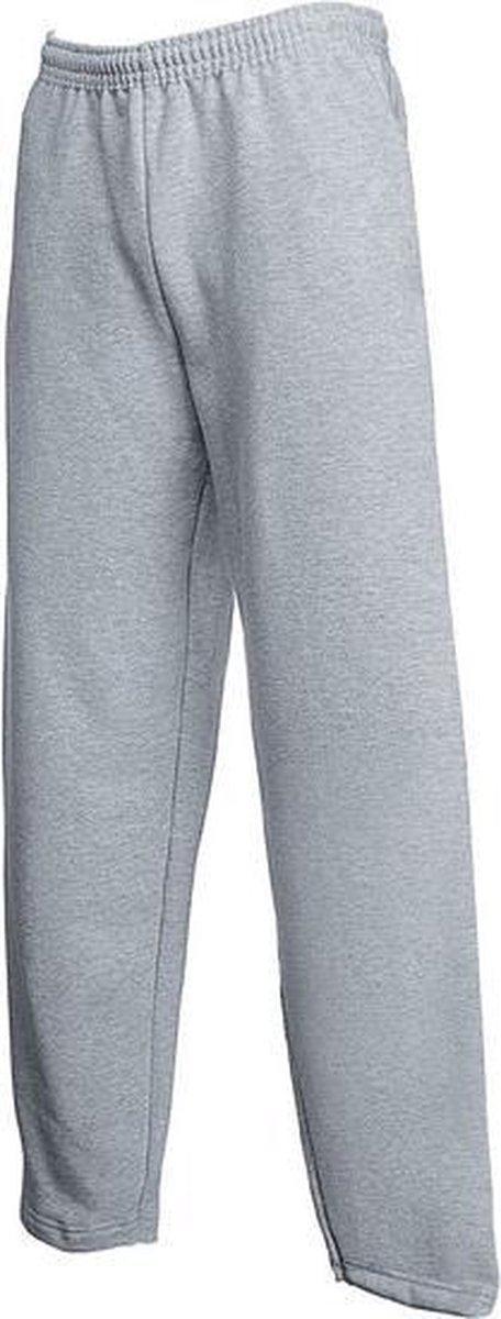 Joggingbroek Fruit of the Loom grijs melange/heather grey voor volwassenen straight/open leg - Sport