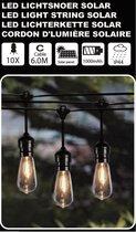 Hofftech Solar Led Lichtsnoer - 10 Led Lampen - 6 Meter - Warm Wit - Binnen & Buiten