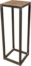 Zuil staal industrieel met houten top 100 cm