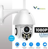 1080P Nachtzicht Live Video Speed Dome Draadloze Wifi Beveiliging PTZ IP Camera IP66 Waterdichte Pan Tilt 4X Zoom IR Netwerk CCTV Surveillance