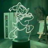 Donald Duck nachtlampje. Nachtlamp kinderen Donald Duck.   Leuke lamp voor kinderkamer Donald Duck. 3d illusie LED nacht lamp 7-kleurig