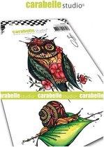 Carabelle Studio • cling stamp A6 chouette et escargot