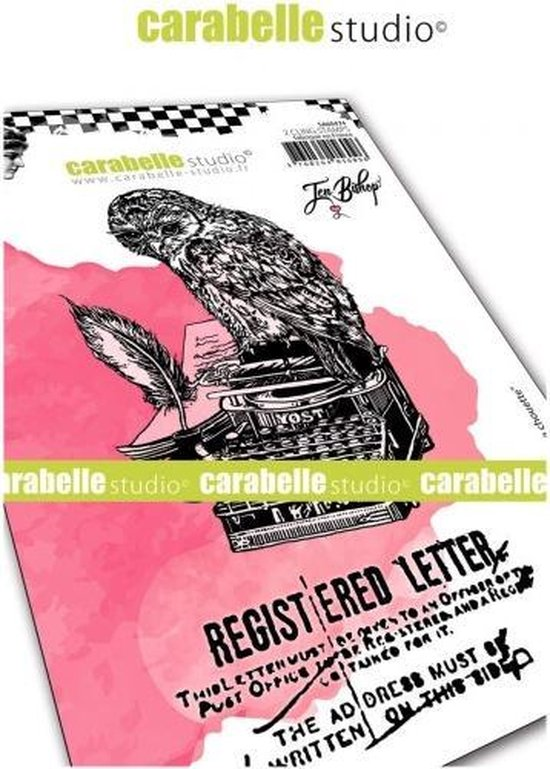 Carabelle Studio • cling stamp A6 lettre d'une chouette