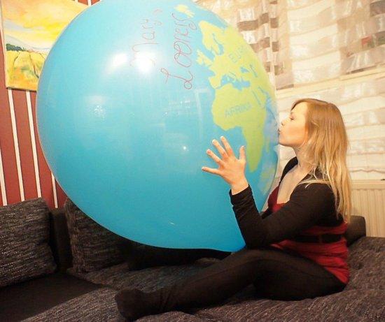 2 Cattex reuze ballonnen - Globe Print - 36 inch - 90 cm - grote ballonnen