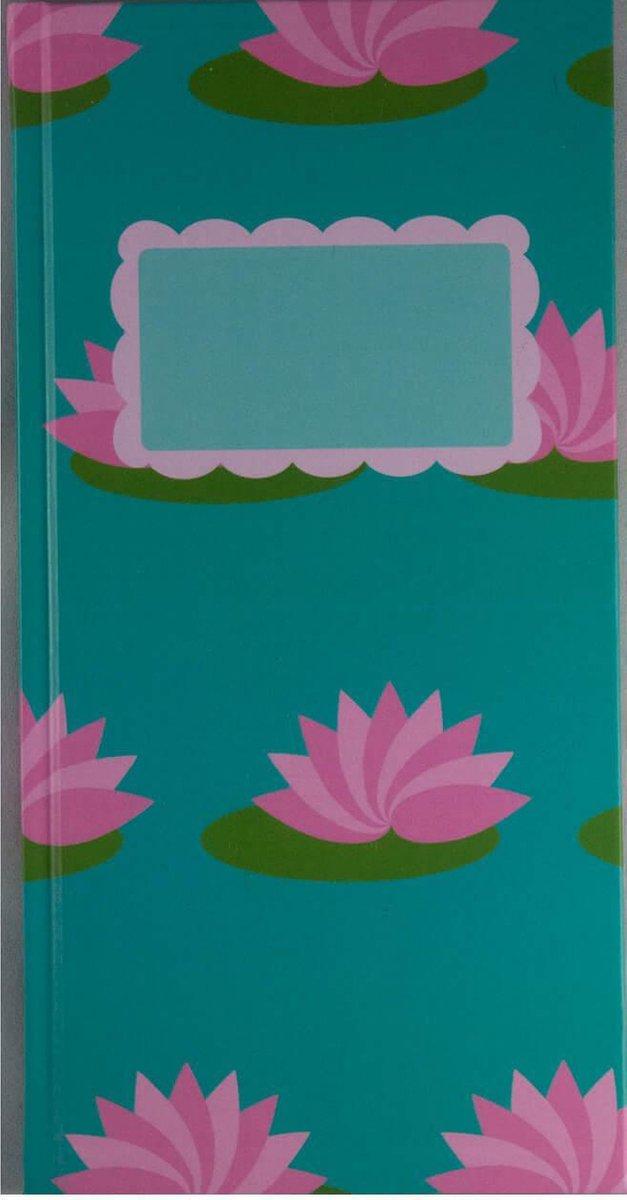 Notitieboek - To Do - Boek Hardcover - Lotusbloem - Turquoise - Roze - Lijstjes - Super mooi - hardcover boekje - Uniek - Cadeau - Werk - Studie - Dagboek