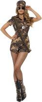 Sexy legerpakje Army Girl kostuum - maat 40-42 (M) - Carnavalskleding