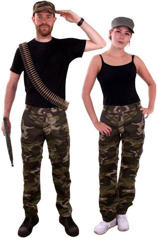 Leger & Oorlog Kostuum | Camouflage Broek Oerwoud Commando | Maat 42-52 | Carnaval kostuum | Verkleedkleding