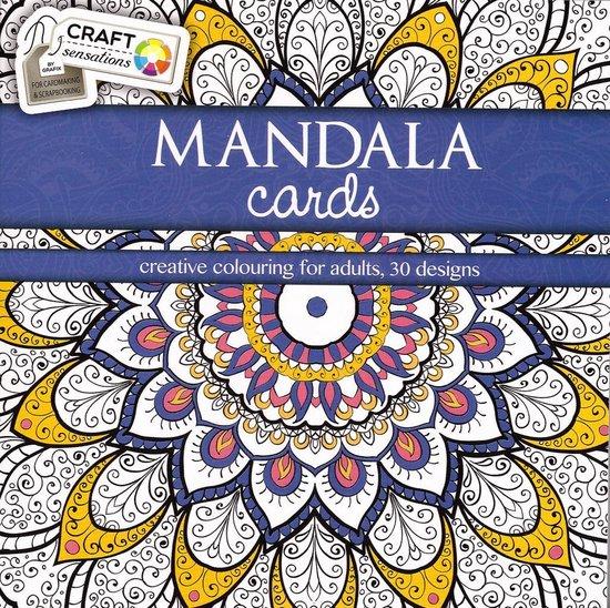 Afbeelding van Craft Kleurboek Sensations Mandala Cards Blauw