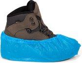 Schoenhoesjes - Schoenovertrek - Overschoenen - Waterdicht - Wegwerp - Plastic - blauw - 100 Stuks