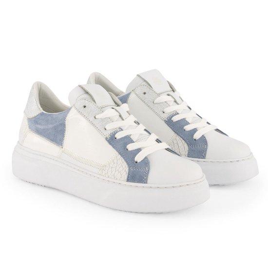 NoGRZ B.Lafon - Leren dames sneakers - Wit Blauw - Maat 38 caBYT8TT