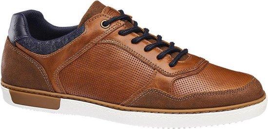 AM shoe Heren Cognac leren sneaker - Maat 43