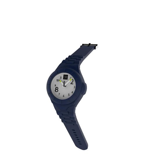 TOO LATE - siliconen horloge - MASH UP LORD SLIM - Ø 27 mm - BLUE JEANS