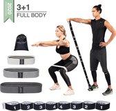 Weerstandsbanden - Full body resistance bands Incl. 3 fitness elastieken voor benen en billen - Set voor het hele lichaam