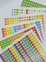 Beloningsstickers 10mm Mega Set   2208 STICKERS   TOPKWALITEIT   heel veel kleuren   school beoordeling   smiley stickers   stickers om te belonen