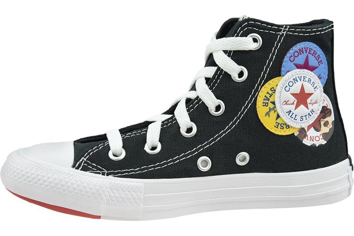 Converse Chuck Taylor All Star Hi Jr 366988C, Kinderen, Zwart, Sneakers maat: 28,5 EU