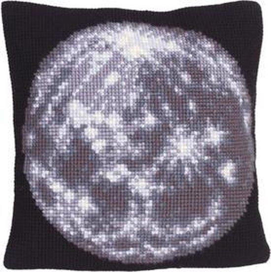 Borduurpakket voorbedrukt kruissteekkussen Moon Collection d'Art 5192