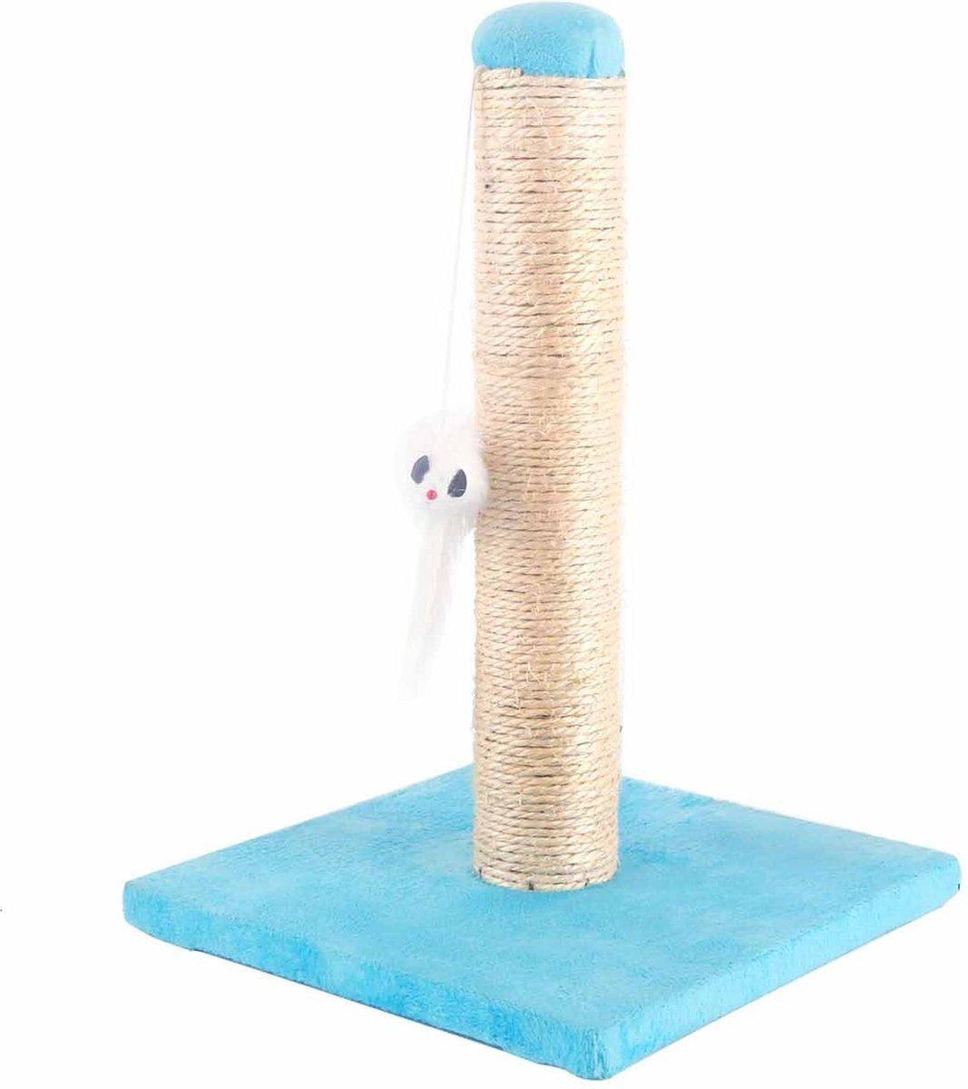 Nobleza krabpaal met speeltje -  25 x 25 x 35 cm - Blauw kopen