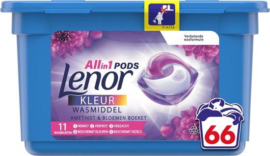 Lenor All In 1 Pods Amethist & Bloemen Boeket Wasmiddel - Voordeelverpakking 66 Wasbeurten - Wasmiddel Pods