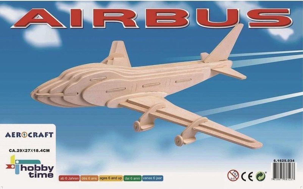 Vliegtuig Boeing 747 - 3D puzzel - Houten speelgoed - Knutselmateriaal - 3D puzzels - Bouwpakketten - Vliegtuigen knutselen
