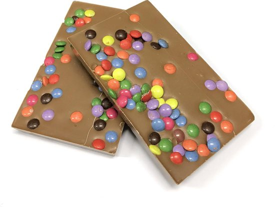 Joe & Mien Ambachtelijke Chocolade reep - Confetti - Melk - 2 x 135 gram