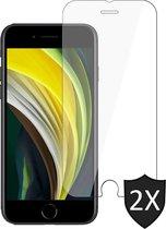 iPhone SE 2020 Screenprotector - Screen Protector Glas - 2 Stuks