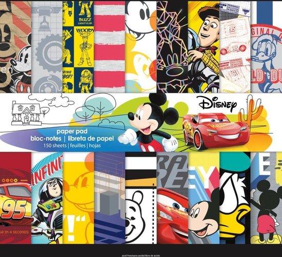 "Trends: Boy Disney Single-Sided Mega Paper Pad 12""X12"" 150/Pkg"