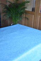 Zomerse Tafellakens - Tafelzeil - Tafelkleed - Duurzaam - Gemakkelijk in onderhoud - Opgerold op dunne rol - Geen plooien - Uni Blauw  - 140cm x 160cm