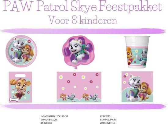 Paw Patrol Feestpakket Skye - Voor 8 Kinderen