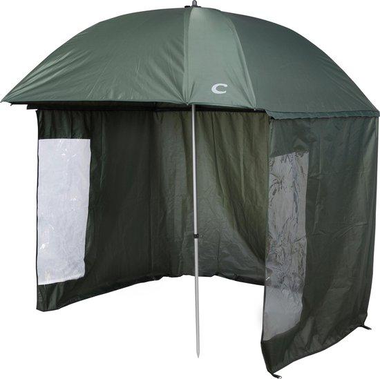Capture Outdoor, Luxe Visparaplu + Aanritstent, 2m50, Aluminium, shelter, knikbaar, Sterk en Superior Oxford kwaliteit, …