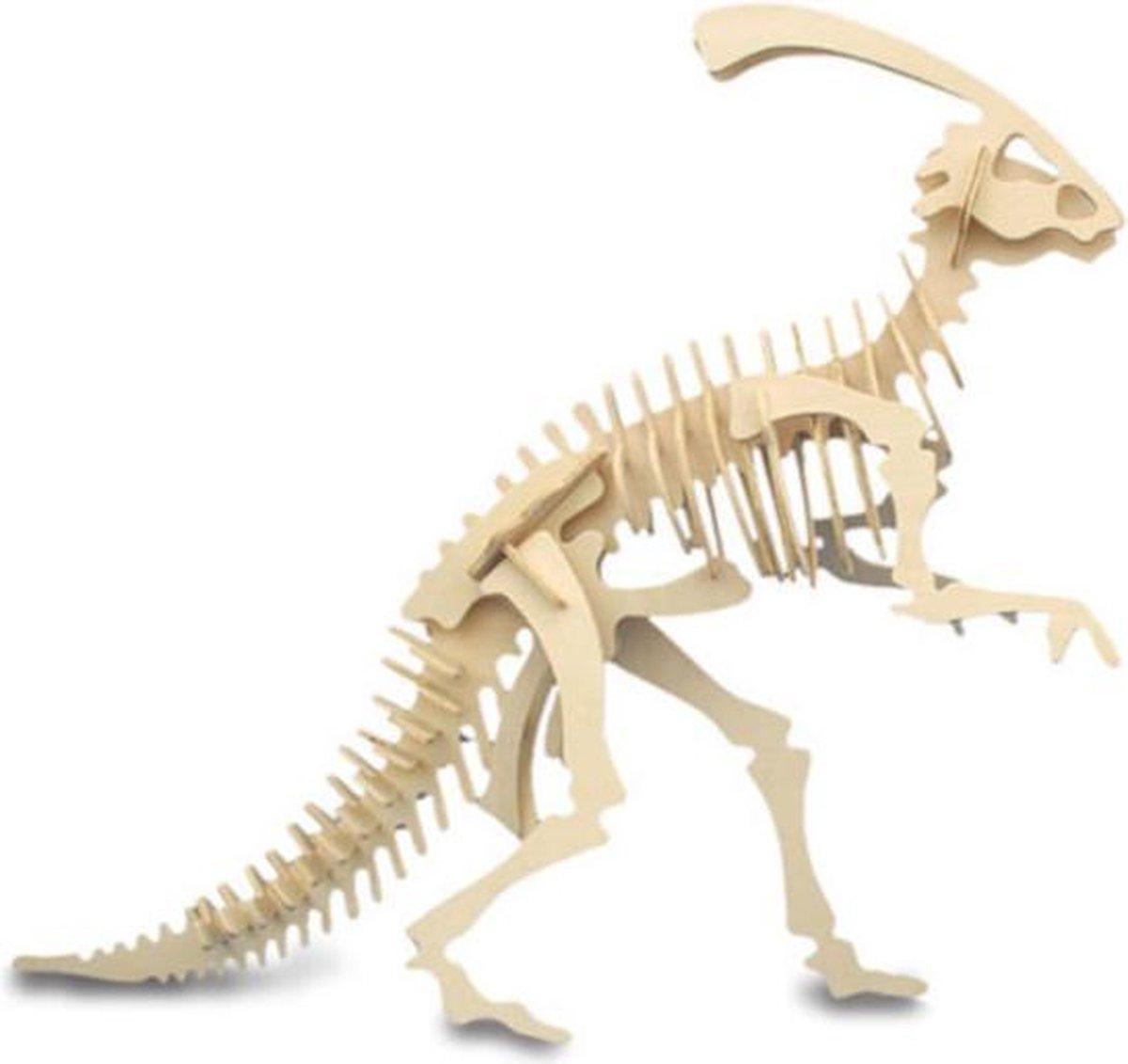 Bouwpakket 3D Puzzel Dinosaurus Parasaurolophus - hout